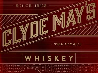 Clyde May's Whiskey Bottle