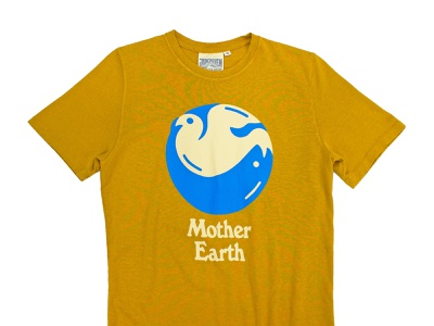 Earth Day T-shirt Collab with Jungmaven austin texas illustration graphic design screenprint apparel graphics typography earth hippy earth day jungmaven