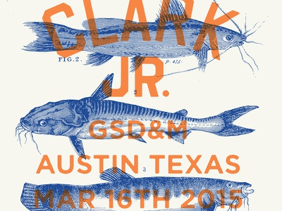 Gary Clark Jr. Poster blues catfish design illustration gsdm swsx band