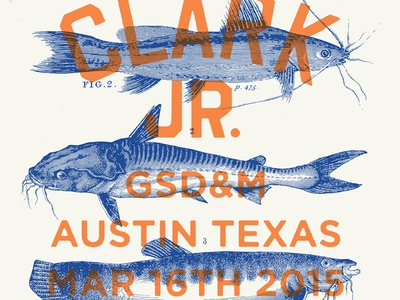 Gary Clark Jr. Poster blues catfish design illustration gsdm swsx band