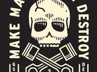 Demolition Derby Skull