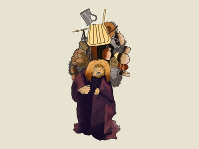 Junk Lady goblin jim henson creature hand drawn magic dance illustration labyrinth