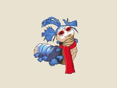 Ello Worm goblin jim henson creature hand drawn magic dance illustration labyrinth