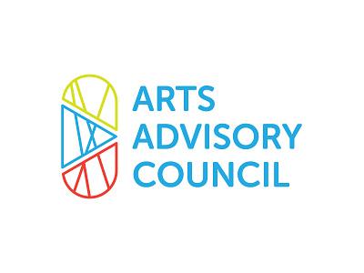 Arts Advisory Council Logo colorful typography type council arts art color lines line logo