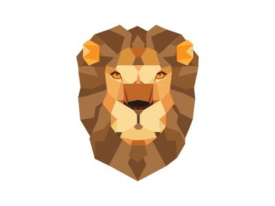 Lion brown orange vector fierce hair mane animal jungle warm roar king lion
