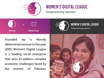 Women's Digital League Logo Concept branding design women empowerment concept logo code tech league digital women