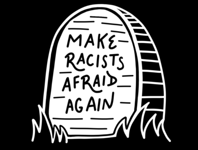 Anti-racist Headstone