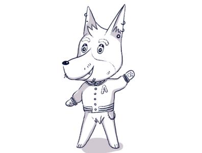 Animal Crossing Islander OC [B&W]