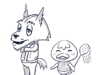 Animal Crossing Islander OCs [B&W]