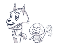 Animal Crossing Islander OCs [B&W]