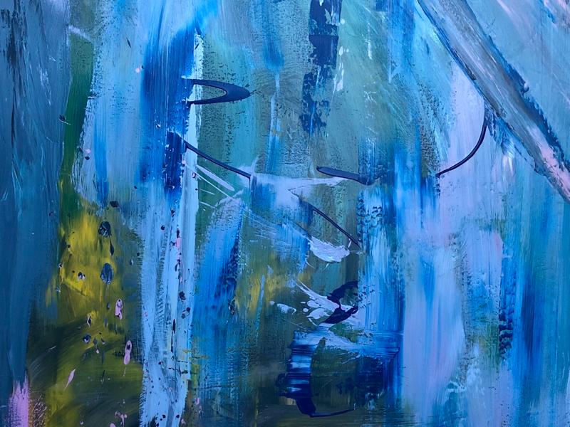 Trans fine art painting emotional lgbtq transgender surreal abstract mural