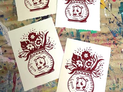 Dead Flowers Silkscreen Prints