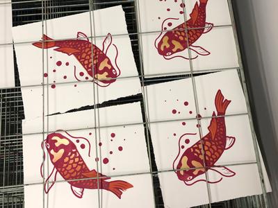 Koi Silkscreen Print
