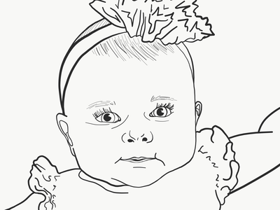 Lines only version: Baby Portrait