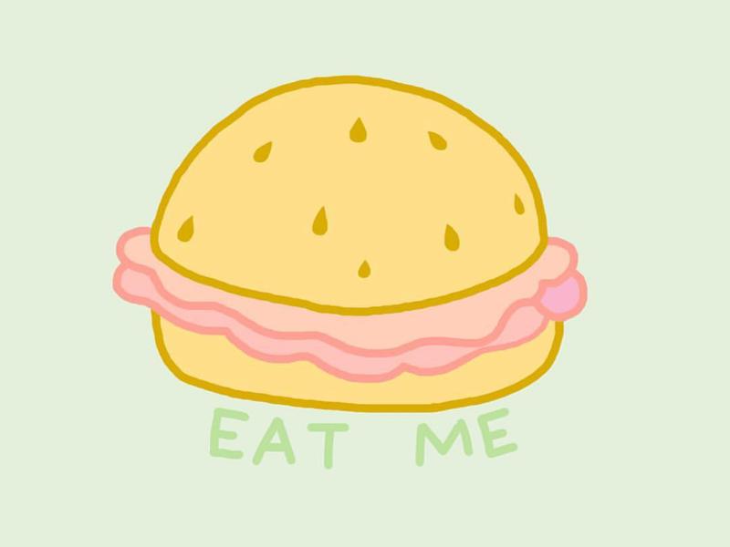 Provocative Sandwich illustration pixelmator photoshop merchandise logo design typography food sex positive feminist art digital art tattoo design drawing satire provocative art