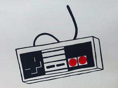 NES Controller Silkscreen Print