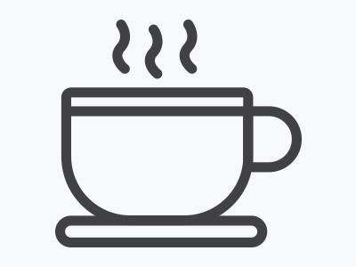 Caffeine Symbol On Coffee