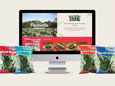 Palmetto Gardens Micro Site greens food product palmetto gardens website