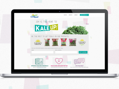 Kale Up! campaign one page parallax scrolling website healthy greens kale