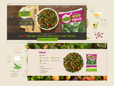 Seasoned Sautés Website responsive illustration seasoned sautés website one page