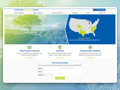 Crossroads Treatment Centers Website design ux ui website