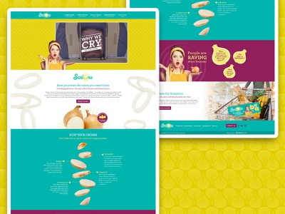 Sunions Website Design sunions onions food ui ux design website
