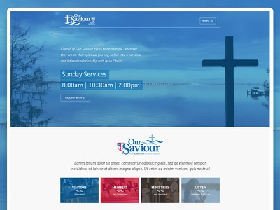 Our Saviour Website Design church ui ux design website