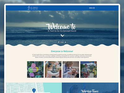 St. Paul's By The Sea Episcopal Church Website Design responsive church design website