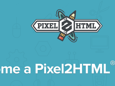 Pixel2HTML Partner Program logo typography icons shadow