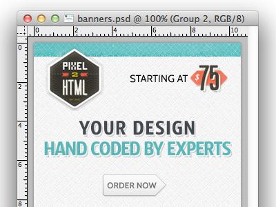 Pixel2HTML: Banner Ads 300x250 banner ads texture