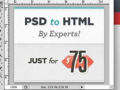 PSD to HTML by Experts! banner ads texture