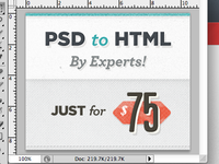 PSD to HTML by Experts!