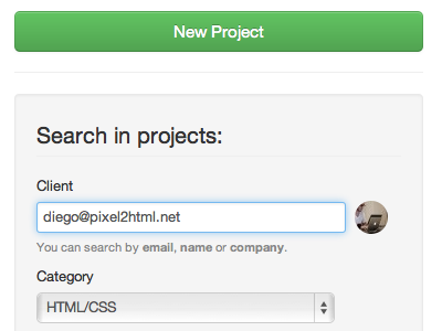 Search area search button backend bootstrap