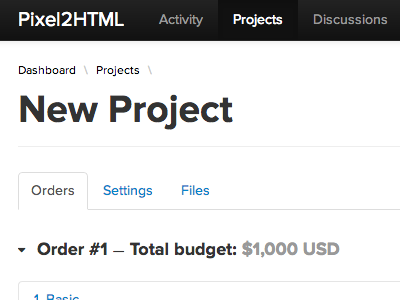 Pixel2HTML > New Project bootstrap ui form proxima nova