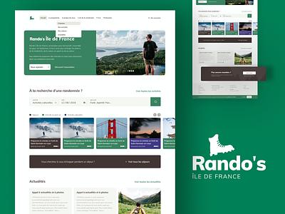 Rando's IDF - Site refont ui design synerghetic branding ui ux design identitydesign