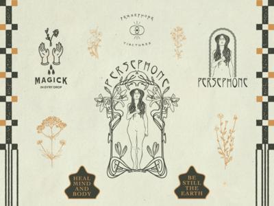 Persephone Tinctures Brand Board