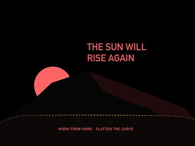 The sun will rise again poster art illustration poster