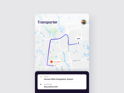 Truck Rental App Interaction illustration visual design visual map card route truck prototype interface animation interaction app ui ux design