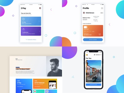 2018 interface profile podcast vector colorful blue ux interaction app animation design