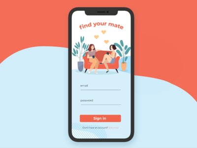 Weekly UI 001 - Dating App Sign In Screen