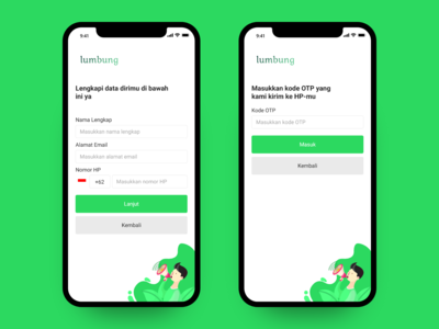 Lumbung App Register Screen