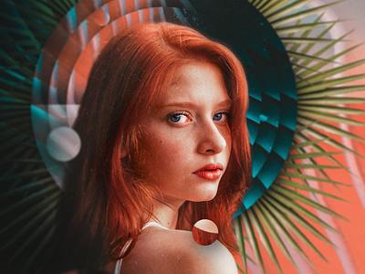 sketch 10 halo poster design composite unsplash portrait warmup collage poster