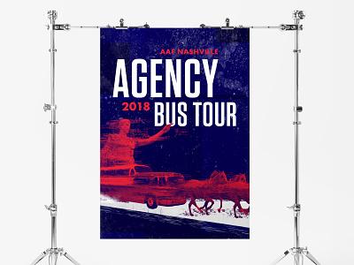 AAF Nashville Bus Tour collage design illustration typogaphy nashville glitch aaf poster