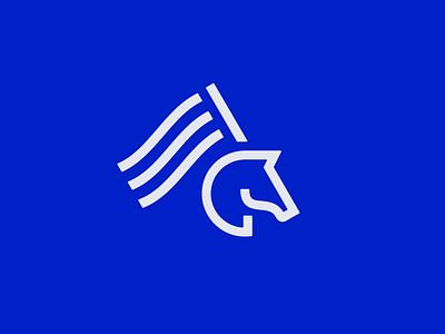 Horse Logo Concept concept icon flag logo illustration monoweight horse