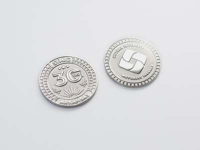Commemorative Coins typography design promotion die cast coin