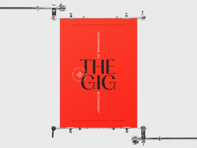 AAF Nashville Gig Economy Poster red pangrampangram design type poster