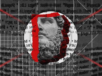 The Art of Development nashville poster design illustration noise grunge grit grid statue blog art development frontend unsplash