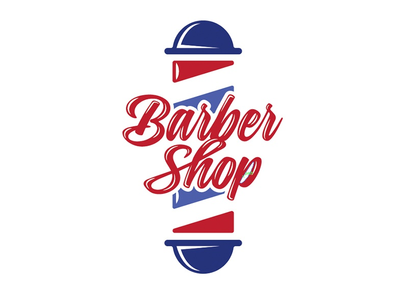 barber shop logo concept by drew beamer dribbble dribbble