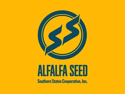 Alfalfa Seed Bag s circle vintage southern burlap seeds farmer