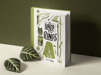 Lord of the Rings Book Cover procreate texture illustration book art book illustration lotr lord of the rings book book cover mockup book cover design book cover